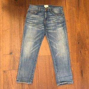 Current Elliot Boyfriend Cropped Distressed Jeans